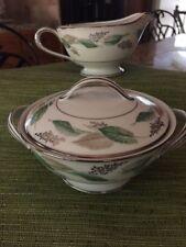 Noritake Lynwood pattern creamer and covered sugar bowl #5307
