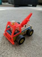 Vintage Fisher Price Little People #718 toy tow truck wrecker 1968