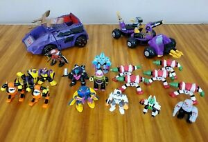 Lot Of Vintage Galoob Z Bots Figures And Vehicles Zbots