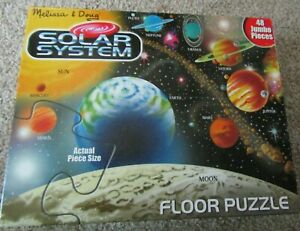 Melissa And Doug SOLAR SYSTEM Floor Puzzle 48pc 2x3 Feet Easy Clean Pre-Owned