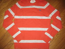 NWT Abercrombie & Fitch Men's Orange Stripe Cashmere & Wool Sweater M