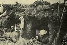 """British Army Soldiers in a Captured German Trench World War 1, 6x4"""" Reprint"""