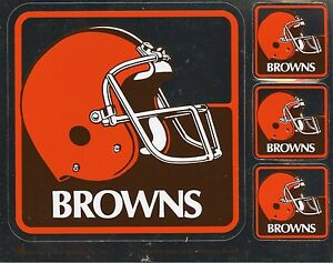 CLEVELAND BROWNS NFL TEAM ISSUED STICKER VINTAGE 1990'S MINT CONDITION