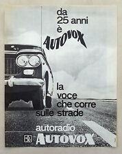 E321-Advertising Pubblicità-1963 - AUTOVOX AUTORADIO