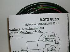 IMPIANTO ELETTRICO ELECTRICAL WIRING MOTO GUZZI CARDELLINO 83 + SCHEMA ELETTRICO