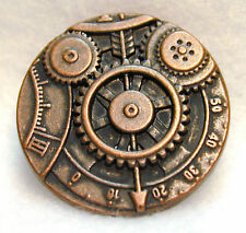 Steampunk Button Machine Mechanism Antique Copper  FREE US SHIPPING!