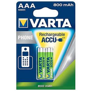 4x VARTA TELEFON-AKKUS AAA 750 mAh/ 800 mAh LR3  LR03 für Schnurlos-Telefon T398