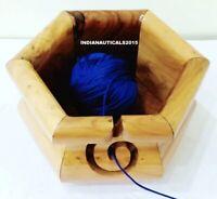 Designer Handmade Wooden yarn Bowl knitting & Crochet Accessories Yarn Storage
