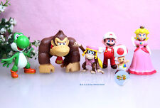 6 pcs Super Mario Bros Donkey Kong Princess Peach Toad Yoshi Action Figures SET