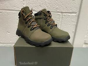 Kids Timberland Brooklyn Mid Hiker Boots 0A2786 Green Size 12.5K to 2.5
