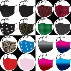 Face Mask Cloth Washable Reusable Unisex Triple Layer Filter Pocket Nose Wire uk