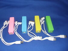 4 x 2200mah POWER BANK with 3 in 1 Charging Cable - FREEPOST - AUSTRALIAN STOCK
