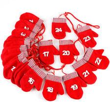 Adventskalender zum befüllen Handschuh 24 Säckchen zum Selbstbefüllen
