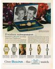 1962 BULOVA Wristwatch Leading Lady Woman's Vintage Ad