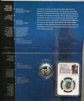 2019 S Apollo 11 50th Anniversary Half Dollar 2 pc Proof set NGC Reverse Kennedy