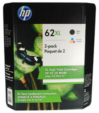 HP 62XL Black and 62XL Color Combo New Genuine