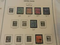 Lot of 14 United States 1938-1954 Stamps, Presidential Issue