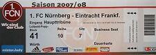 TICKET 2007/08 1. FC Nürnberg - Eintracht Frankfurt