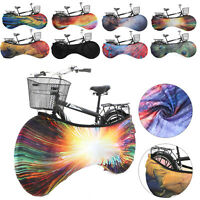 Elastic Bike Cover Anti-dust Cover Bicycle Wheel Chain Elastic Protect Cover