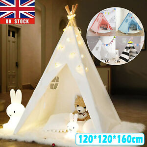 Large Canvas Children Indian Tent Teepee Kids Wigwam Indoor Outdoor Play House