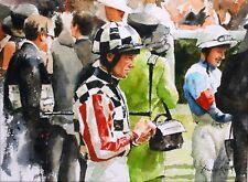"""NUOVO Originale Fraser KING """"ASCOT"""" Royal Enclosure PITTURA corse di cavalli"""