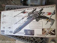 STAR WARS T 65 X WING STARFIGHTER INCOM SPECS  BIG METAL display Embossed