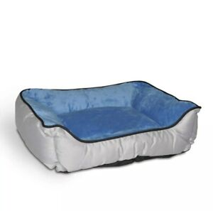 """K&H Pet Products Lounge Sleeper Self-Warming Pet Bed Gray / Blue 16"""" x 20"""" x 6"""""""