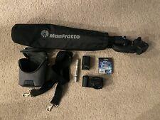 Sony Alpha a5100 Digital Camera, Manfrotto tripod, and case