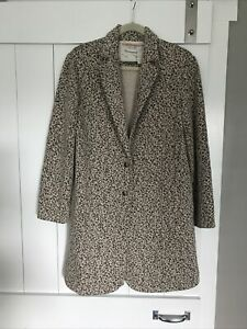 Anthropologie Leopard Blazer Coat by Cartonnier  Size Small Medium