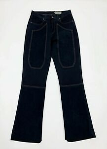 Jeckerson jeans pantalone donna W27 tg 41 zampa bootcut flared alcantara T6305