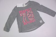 H&M 78 Top Shirt Girls Girl Size 1 1/2-2 Years NWT NEW Gray White L.O.G.G. 18-24