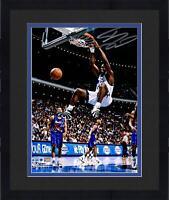 "Framed Shaquille O'Neal Orlando Magic Signed 8"" x 10"" Dunk vs. Toronto Raptors"