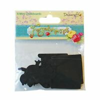 Forget Me Not 8 x Small Mini Chalk board Blackboard Wooden Craft Shapes