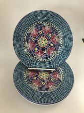 """     Dansk Mosaic Dinnerware Tiles  Signature  Flowers   2 Salad Plates  9 """