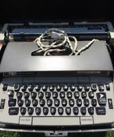 Smith Corona Electra 220 Automatic Electric Typewriter Gray Vintage 1960's Case