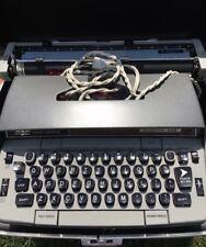 Smith Corona Electra 220 Automatic Electric Typewriter Gray Vintage 1960's Case