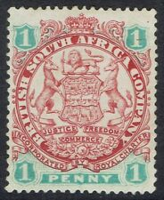 RHODESIA 1896 ARMS 1D LION LIGHT SHADING