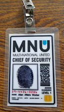 District 9 ID Badge - MNU Chief of Security cosplay costume prop