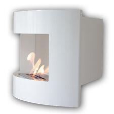 Gel y etanol chimenea esquina de pared Riviera Deluxe Blanco + quemador 1 litro