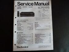 Original Service Manual Technics sl PD 1010