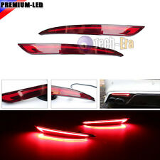 3D Optic LED Rear Bumper Reflector Brake Light For 2014~2016 Ford Fusion Mondeo