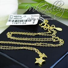 925 STERLING SILVER NECKLACE STAR WITH ZIRCONIA  - GOLD PLATED