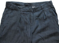 New Womens Blue Tencel Linen NEXT Crop Trousers Size 10 RRP £30 DEFECT FRAYING