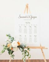 Personalised 'Savannah' Wedding/Event/Party Table Seating Plan A1 A2 A3