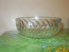 Vintage Crystal Large Fruit Dessert Bowl  Round 20.5cm Scandinavian VGC