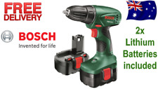 Bosch 14.4V Cordless Drill & Screw Driver w/ 2x Lithium Battery LED Keyless Chuc