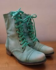 """Steve Madden  """"Troopa""""  Green Leather Women's Boots  Size 7"""