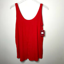 Tommy John Tank Top XS Scoop Neck Sleeveless Loose Stretch Womens Haute Red NWT