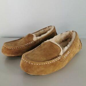 NEW UGG Australia Ansley Chestnut Moccasin Sheepskin Slippers Size UK 7.5