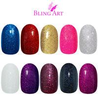 Bling Art Oval False Nails Black Red Blue Pink Purple Gold Gel Fake Medium Tip